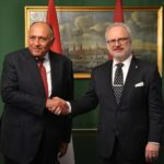 Egyptian Foreign Minister in Latvia with official visit